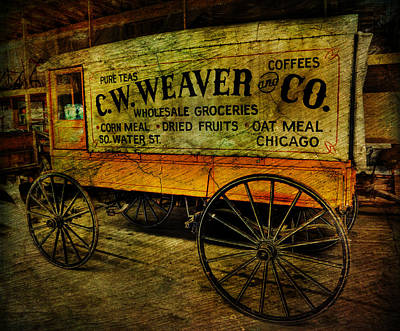 Vintage Wholesale Groceries Wagon - C.w. Weaver Company - Vintage - Nostalgia - General Store -  Poster