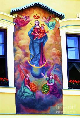 Virgin Mary Mural Poster by Mariola Bitner