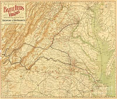 Virginia Battlefields Poster