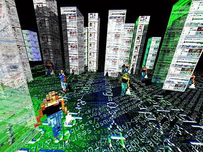 Virtual Web City, Conceptual Artwork Poster