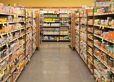 Vitamin And Supplement Aisle Poster by David Buffington