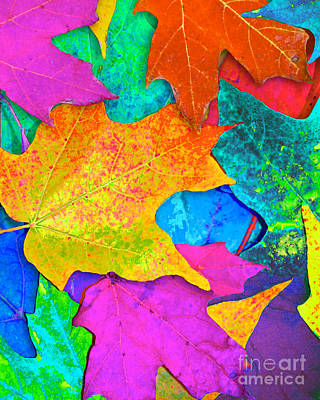 Vivid Leaves 3 Poster by Ginny Gaura