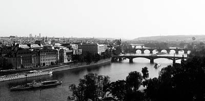 Vltava River At Prag Poster