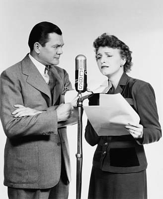Voice Actors Marjorie Hannan And Hugh Poster