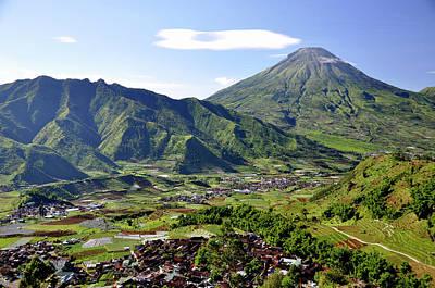 Volcano Near Dieng Plateau Poster