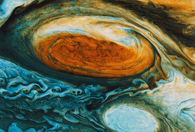 Voyagers View Of The Great Red Spot, An Poster