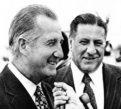 Vp Spiro Agnew With Mayor Frank Rizzo Poster