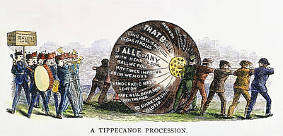 W. Harrison: Campaign, 1840 Poster by Granger
