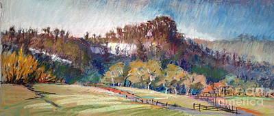 Waimakariri Cliffs Poster by Pamela Pretty