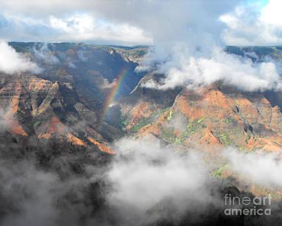 Waimea Canyon Rainbow Poster by Rebecca Margraf