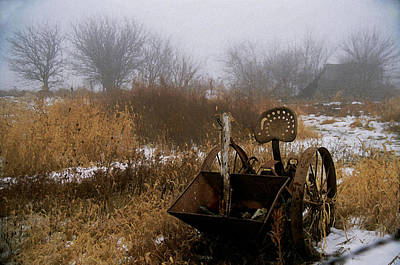 Poster featuring the photograph Waiting In The Fog by Kimberleigh Ladd