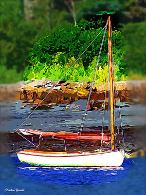 Waiting To Sail Poster by Stephen Younts