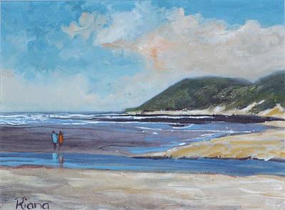 Walk On The Beach Poster by Riana Van Staden