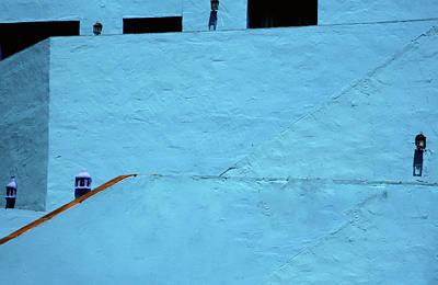 Walls In Blue Poster by Piet Scholten