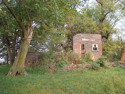 Poster featuring the photograph Walnut Grove School Ruins by Bonfire Photography