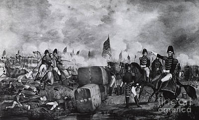 War Of 1812, Battle Of New Orleans Poster by Photo Researchers