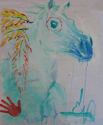 War Poney Poster by Elizabeth Parashis