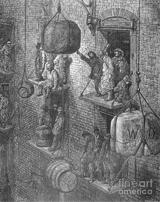 Warehousing In The City By Gustave Dore Poster
