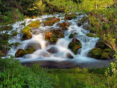 Wasatch Range Cascade Poster