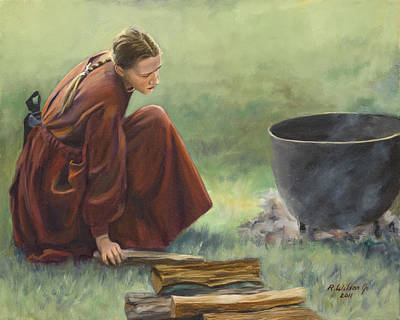 Poster featuring the painting Wash Day I by Karen Wilson