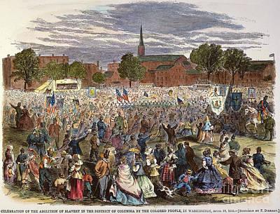 Washington: Abolition, 1866 Poster