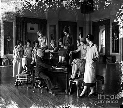 Washington Debutantes Rehearsing Poster by Photo Researchers