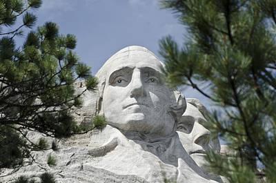Washington On Mount Rushmore Poster
