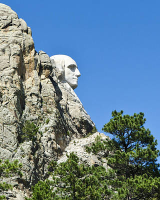 Washinton On Mt Rushmore Poster