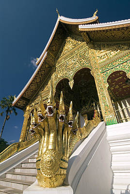 Wat Sen Naga Heads Poster by Gloria & Richard Maschmeyer