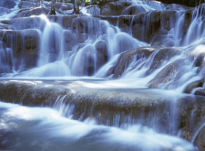 Water And Rock At Dunns River Falls Poster by Axiom Photographic