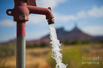 Water Coming From Faucet Poster by Thom Gourley/Flatbread Images, LLC