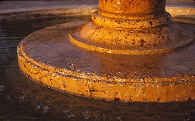 Water Fountain Base Poster by Bob Whitt