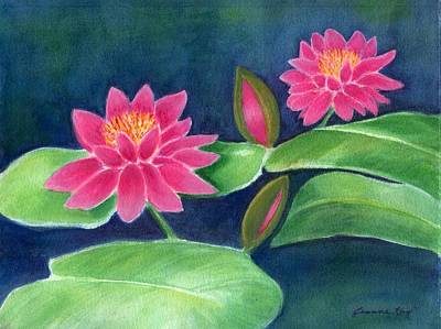 Water Lilies  Poster by Jeanne Kay Juhos