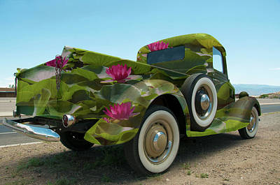 Water Lily Truck Poster by Carolyn Dalessandro