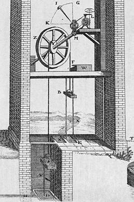 Water Raising Engine, 18th Century Poster by Middle Temple Library
