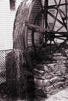 Water Wheel Old Mill Cherokee North Carolina  Poster