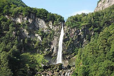 Waterfall At Foroglio, Switzerland Poster