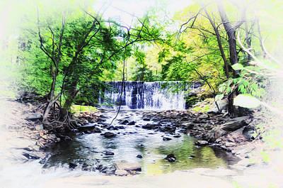 Waterfall At Gladwynn Poster by Bill Cannon