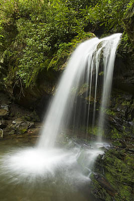 Waterfall At Springtime Poster