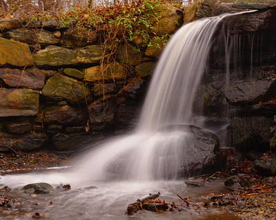 Waterfall In Cow Pasture Poster by Bedford Shore Photography