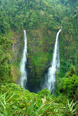 Poster featuring the photograph waterfall in Laos by Luciano Mortula