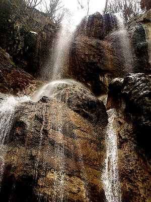 Poster featuring the photograph Waterfall by Lucy D
