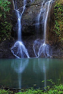 Poster featuring the photograph Waterfall- Micoud- St Lucia by Chester Williams