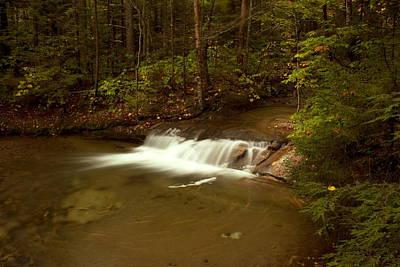 Waterfall Of New Hampshire Poster by Amanda Kiplinger