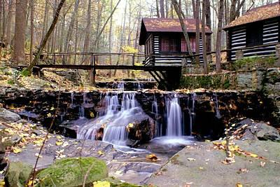 Waterfall On Friends Creek Poster