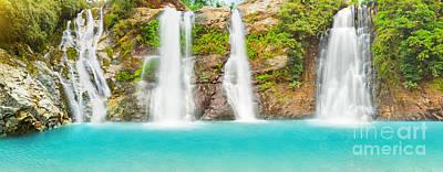 Waterfall Panorama Poster