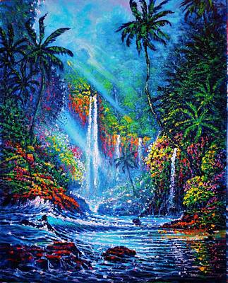 Waterfall  River Of Life Poster