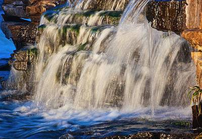 Poster featuring the photograph Waterfalls by Josef Pittner