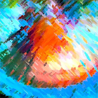 Watermelon Honeycomb Village Poster by Betsy Knapp