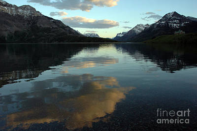 Waterton Lake Sunset Canada Poster by Vivian Christopher